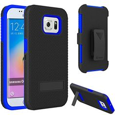 S6 Edge Case,VAKOO Heavy Duty Samsung Galaxy S6 Edge Armor Kickstand Case with Locking Belt Swivel Clip - Blue Vakoo http://www.amazon.com/dp/B00XYID0Q6/ref=cm_sw_r_pi_dp_Uq-Ivb1WGK6GV