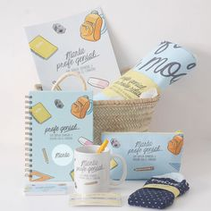 Pack de regalo personalizado para regalar en fin de curso a un profesor