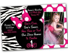 Minnie Mouse invitations Minnie Mouse Party Package by DellaEvents