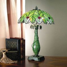 Dale Tiffany Lamps Lifestyles Robey  Table Lamp in Antique Bronze - TT101007