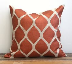 Aya decorative pillow cover hand printed in metallic by melongings