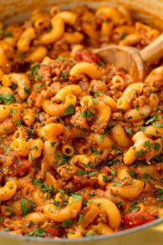 Goulash Comfort food at its finest.Get the recipe from Delish. Easy Skillet Dinner, Skillet Dinners, Ground Beef Dishes, Ground Beef Recipes Easy, Easy Weeknight Dinners, Easy Meals, Goulash Recipes, Easy Dinner Recipes, Dinner Ideas