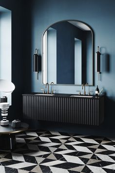 Vanitas Studio is an expert in sophisticated and incredibly stylish modern bathrooms. The company creates sinks and floor coverings of beautiful types of ✌Pufikhomes - source of home inspiration Bad Inspiration, Bathroom Inspiration, Bathroom Ideas, Bathroom Organization, Bathroom Storage, Bathroom Mirrors, Bathroom Cabinets, Small Bathroom, Bathroom Cleaning