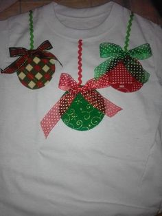 18 New Ideas For Sewing Gifts For Kids Christmas Diy Ugly Christmas Sweater, Christmas Shirts, Christmas Crafts, Christmas Trees, Christmas Outfits, Christmas Sewing, Toddler Christmas, Babies First Christmas, Toddler Gifts