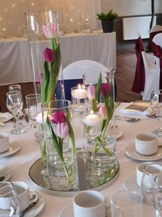 Creative family run wedding & events venue decor stylist, dresser and decor hire based in Central Scotland. Wedding Centrepieces, Centerpieces, Table Decorations, Real Flowers, Silk Flowers, Inglewood House, Tulip Wedding, Mirror Plates, Water Beads