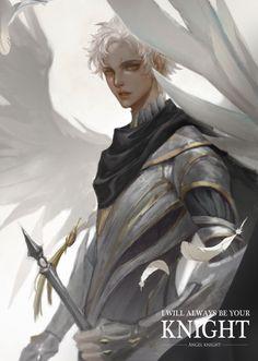 Fantasy Character Design, Character Inspiration, Character Art, Angel Drawing, Guy Drawing, Anime Angel, Angel Artwork, Fantasy Art Men, Knight Art