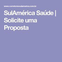 SulAmérica Saúde | Solicite uma Proposta