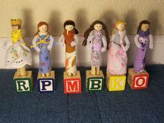 How to make Clothes pin dolls.  I'm going to try it for Christmas ornaments like my mother in law made for her kids.