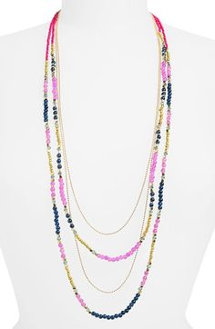 Panacea Beaded Layered Necklace available at #Nordstrom