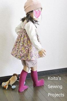 まっすぐ縫うだけの簡単ギャザースカート、キャミソール、ワンピースの作り方(サイズ90~95) | こいとの Handmade Life Handmade Clothes, Kids And Parenting, Fasion, Handicraft, Cute Dresses, Harajuku, Diy And Crafts, Sewing Projects, Names