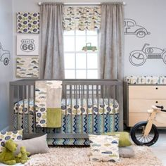 I'VE BEEN SEARCHING FOR THIS FOR A LONG TIME!!!!  Glenna Jean Uptown Traffic 3-Piece Crib Bedding Set - BedBathandBeyond.com