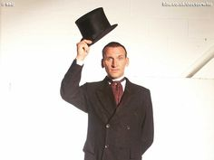 This is a genuine BBC promo photo of Nine just after regeneration. I'd never seen it before so I thought I'd share. It's weird to see him out of his leather.  For all the Nine fans out there.
