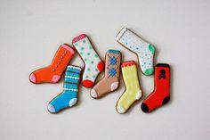 Christmas stocking-cookies