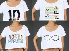 One Direction Crop Tops | One Direction Crop top by CalmCoolCollected98 on Etsy