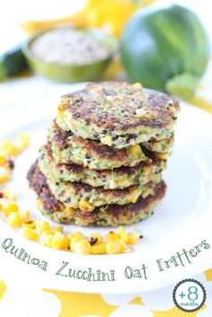 NEW VIDEO!! Quinoa Zucchini Oat Fritters, gluten free and loaded with tasty nutrients. The whole family loved them!!! They are crispy outside and super creamy inside. A lovely toddler meal/babyledweaning idea or…a lunch box one!! | Buona Pappa