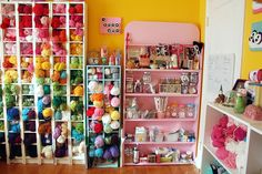Twinkie Chan's Craft Room · Craft Room Tours · Cut Out + Keep (I want the pink shelf!)