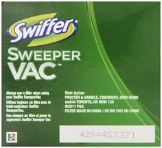 Swiffer Sweepervac Rechargeable Cordless Vacuum Replacement Filter 2 Count (Pack of 8)