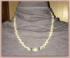 Handmade Ivory Freshwater River Pearl Necklace  by ForHerEarsOnly