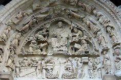 Picture of Saint-Benoit-sur-Loire Abbey, nearby Clémont, France. Saint Benoit, Romanesque Art, Travel And Tourism, France Travel, Middle Ages, Renaissance, Saints, Places To Visit, Lion Sculpture