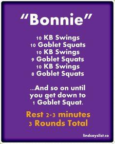 Kettlebell/Goblet Squat Workout via diet workout squats Crossfit Workouts At Home, Crossfit Humor, Squat Workout, Crossfit Games, Gym Humor, Workout Humor, Fitness Tips, Health Fitness, Fitness Memes