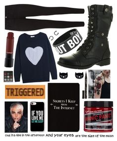 """""""Untitled #209"""" by mcrsarah ❤ liked on Polyvore featuring J Brand, Reneeze, Chinti and Parker, Manic Panic NYC, Casetify, Rich and Damned and Smith & Cult"""
