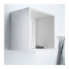 IKEA - EKET, Cabinet, white, , A simple unit can be enough storage for a limited space or the foundation for a larger storage solution if your needs change.You can choose to place the cabinet on the floor or mount it on the wall to free up floor space.Assembly is quick and easy, thanks to the wedge dowel that clicks into the pre-drilled holes.