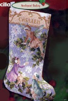 Rare LeClair Twelve Days Needlepoint Stocking Kit Partridge Pear ...