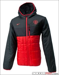 Nike Manchester United Flip-It Reversible Jacket - Diablo Red with Anthracite...$112.49 Best Club, Football Kits, Stay Warm, Manchester United, Nike Jacket, Soccer, Winter Jackets, The Unit, Sports
