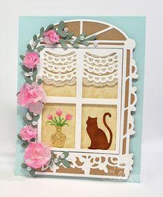 Embellished Dreams: Toby's Flower Window Sill Card - Tonic Studios