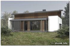 Architekt Maciej Olczak - projekt domu nowoczesnego dachem