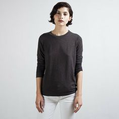 Feel like a Blanket, Look like a Hipster Everlane Women's French Terry Sweatshirt in Graphite