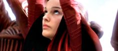 Queen Padme Amidala in combat fatigues on Naboo