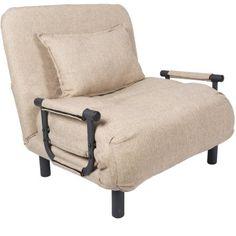 Pragma Single Sleeper Convertible Chair, Multiple Colors