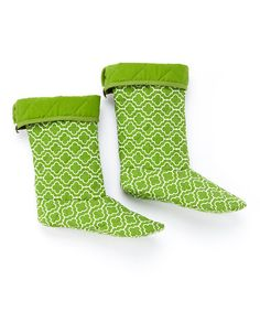 Take a look at this Green Geometric Boot Liner on zulily today!