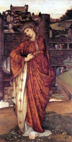 John Roddam Spencer Stanhope, Our Lady of the Watergate - Pre Raphaelite Art