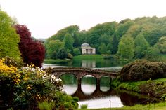 Palladian Bridge Stourhead House and Gardens, Wiltshire.  Just Beautiful!