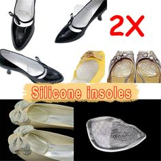 Cheap Sale !!! 1 Pair Silicone Gel Elastic Cushion Insoles Protect Comfy Feet Palm Care Shoe Pad Pads #7 #shoes, #jewelry, #women, #men, #hats