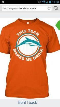 The Miami Dolphins...