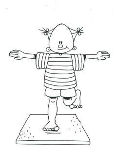 Bewegingsprent Speelkriebels Body Map, Indoor Play, Gross Motor Skills, Yoga For Kids, Occupational Therapy, Pre School, Activities For Kids, Clip Art, Teaching