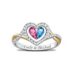 Tender Hearts Personalized Ring