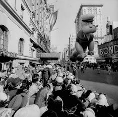 Popeye Balloon Parade Vintage Photo