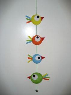 happy felted birds by corinne - - Basteln Frühling Kinder Bird Crafts, Easter Crafts, Felt Crafts, Diy And Crafts, Arts And Crafts, Projects For Kids, Diy For Kids, Crafts For Kids, Paper Birds