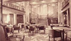 First Class Smoking room aboard the SS Paris Ways To Travel, Paris, Art Nouveau, Art Deco, The Past, Smoking Room, Oceans, Tango, Transportation
