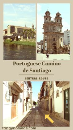 Camino Portuguese walking stages from Porto to Santiago de Compostela. Maps, itinerary, budget, tips. #caminodesantiago #portuguesecamino #hiking #centralroute