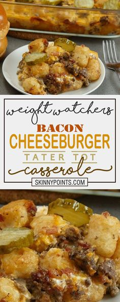- All about Your Power Recipes Weight Watchers Bacon Cheeseburger Tater Tot Casserole! - All about Your Power Recipes Beef Fillet Recipes, Cubed Beef Recipes, Beef Kabob Recipes, Beef Tenderloin Recipes, Ww Recipes, Ground Beef Recipes, Healthy Recipes, Fondue Recipes, Tostada Recipes
