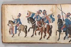 Album of Tournaments and Parades in Nuremberg Date: late 16th–mid-17th century Geography: Nuremberg Culture: German, Nuremberg Medium: Pen and ink, watercolor, gold and silver washes; paper bound in gold-tooled leather Dimensions: cover: 14 x 10 3/8 in. (35.56 x 26.35 cm); page: 13 5/8 x 9 7/8 in. (34.61 x 25.08 cm) Classification: Books & Manuscripts Credit Line: Rogers Fund, 1922 Accession Number: 22.229