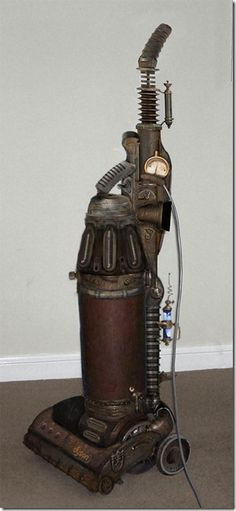 Steampunk vacuum (does it make cleaning fun?) It made me chuckle...now eyeing up the hoover!