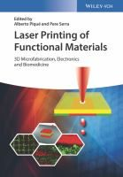 Buy Laser Printing of Functional Materials: Microfabrication, Electronics and Biomedicine by Alberto Piqué, Pere Serra and Read this Book on Kobo's Free Apps. Discover Kobo's Vast Collection of Ebooks and Audiobooks Today - Over 4 Million Titles! 3d Printing Website, 3d Cell, Make Money Online, How To Make Money, Purple Bedding Sets, Tissue Engineering, Websites Like Etsy, Light Emitting Diode, Thermal Imaging