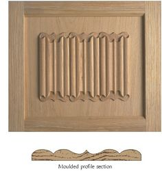 Linen panel & section of moulding