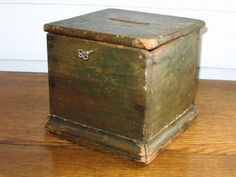 """Original 19th Century ballot box with key. """"Congress"""" lettered on top.  This is a fancier version than the one my parents have."""